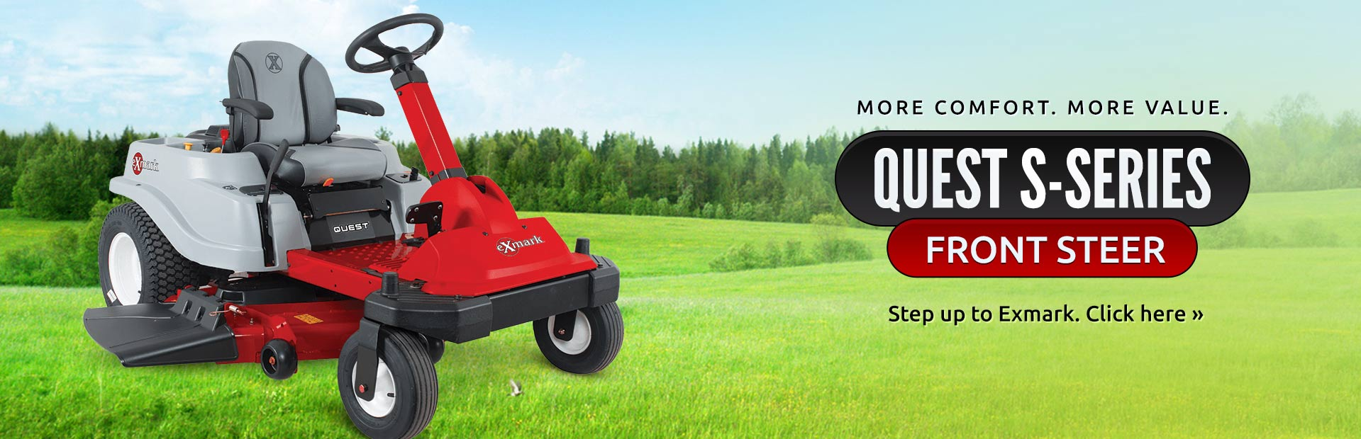 Exmark Quest S-Series Front Steer: Click here for details.