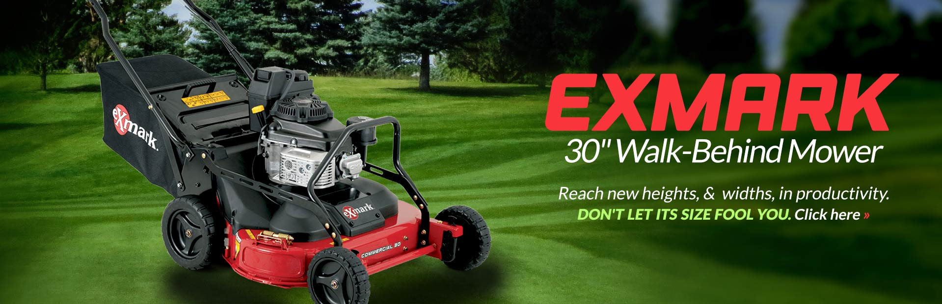 Charming Exmark 30 Inch Walk Behind Mower: Click Here To View The Model.