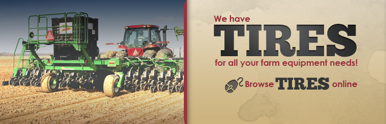 Click here to browse our tires for your farming equipment needs!