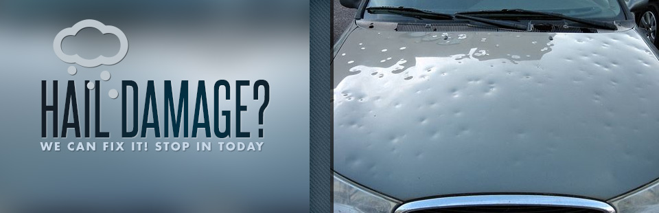 Have hail damage? We can fix it! Stop in today.