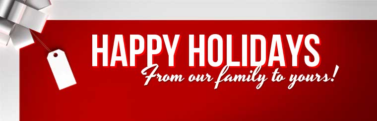 Happy holidays from our family to yours! Click here to learn more about us.