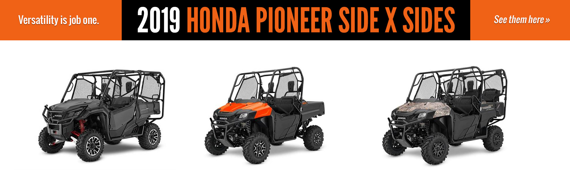 Honda Motorcycles Parts Service Dreyer Indianapolis In 2006 70cc Dirt Bike 2019 Pioneer Side X Sides Click Here To View The Models