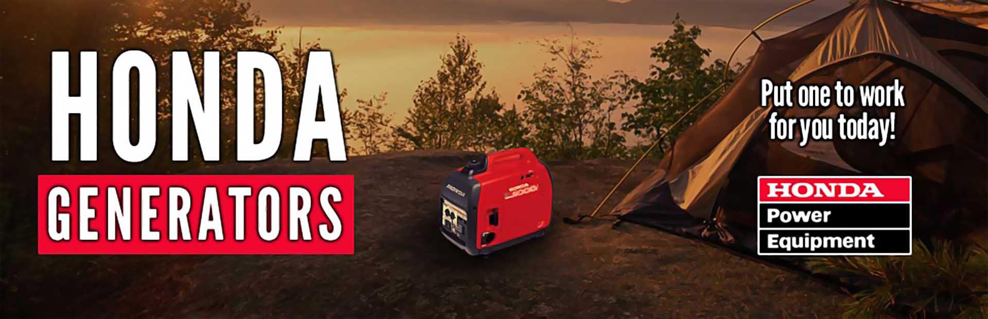 Honda Generators: Click here to view the models.