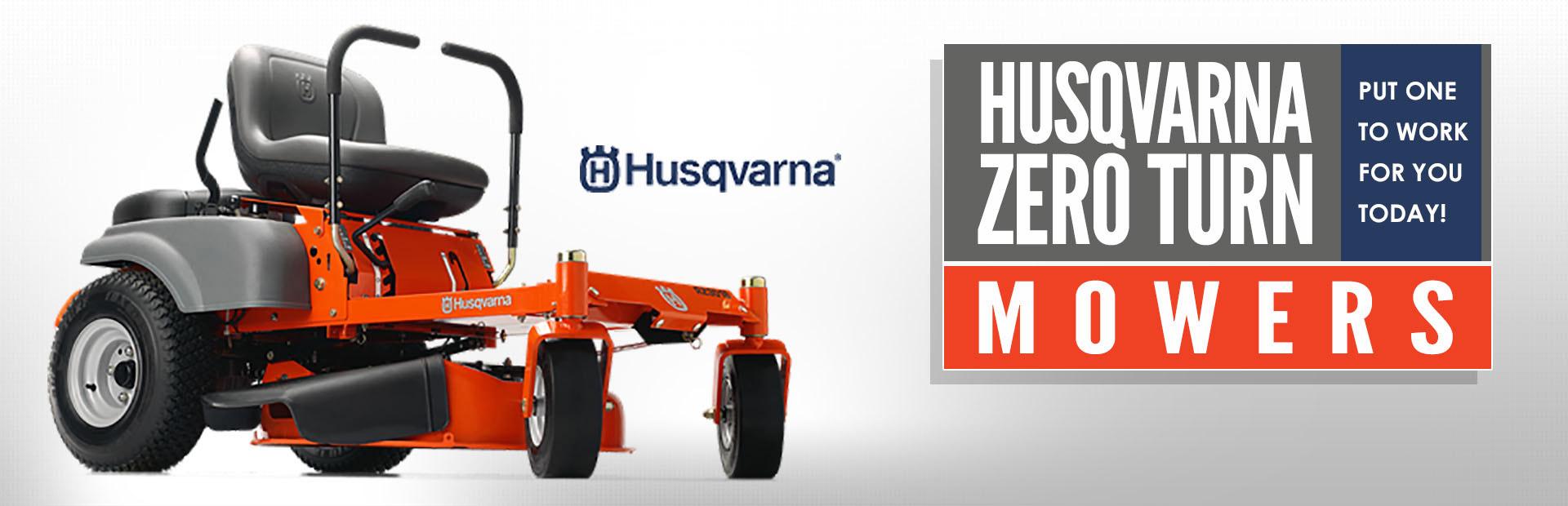 Husqvarna Zero Turn Mowers: Click here to view the models.