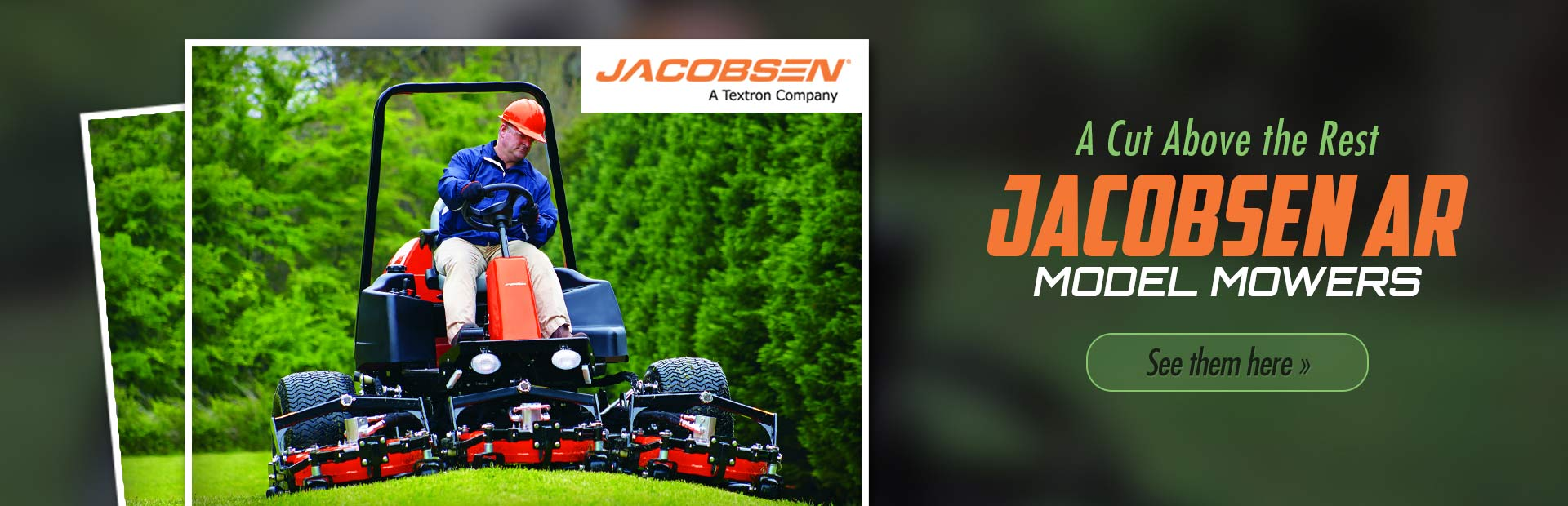 Jacobsen AR Model Mowers: Click here to view the models.