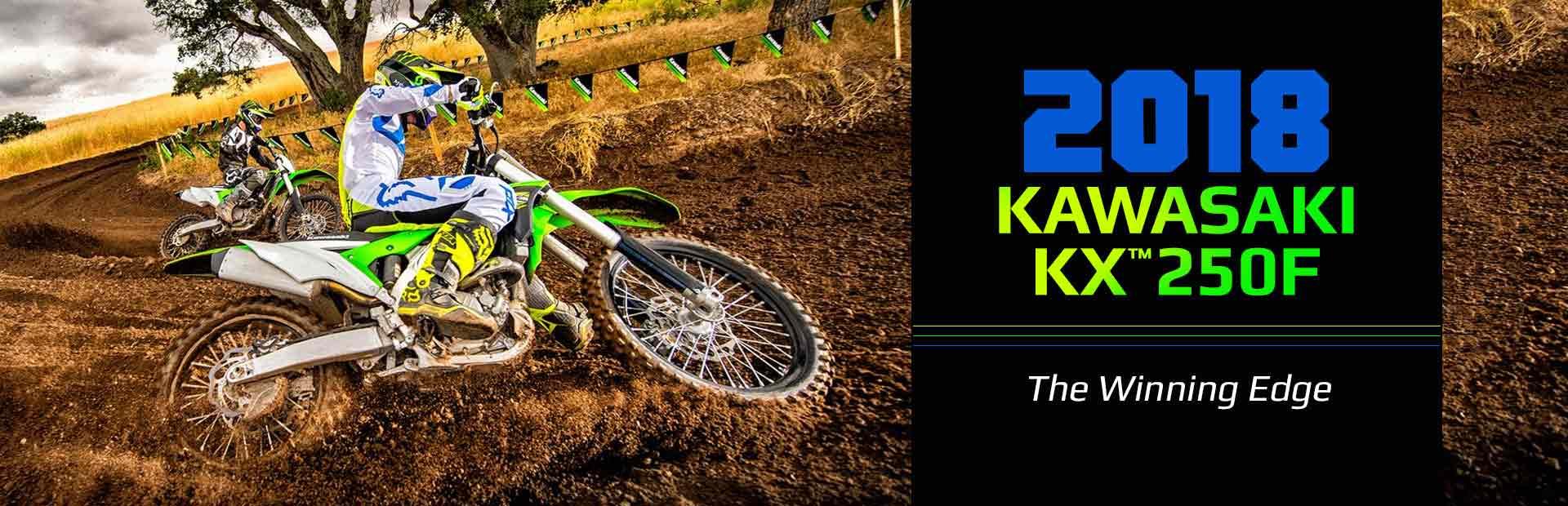 2018 Kawasaki KX™250F: Click here to view the model.