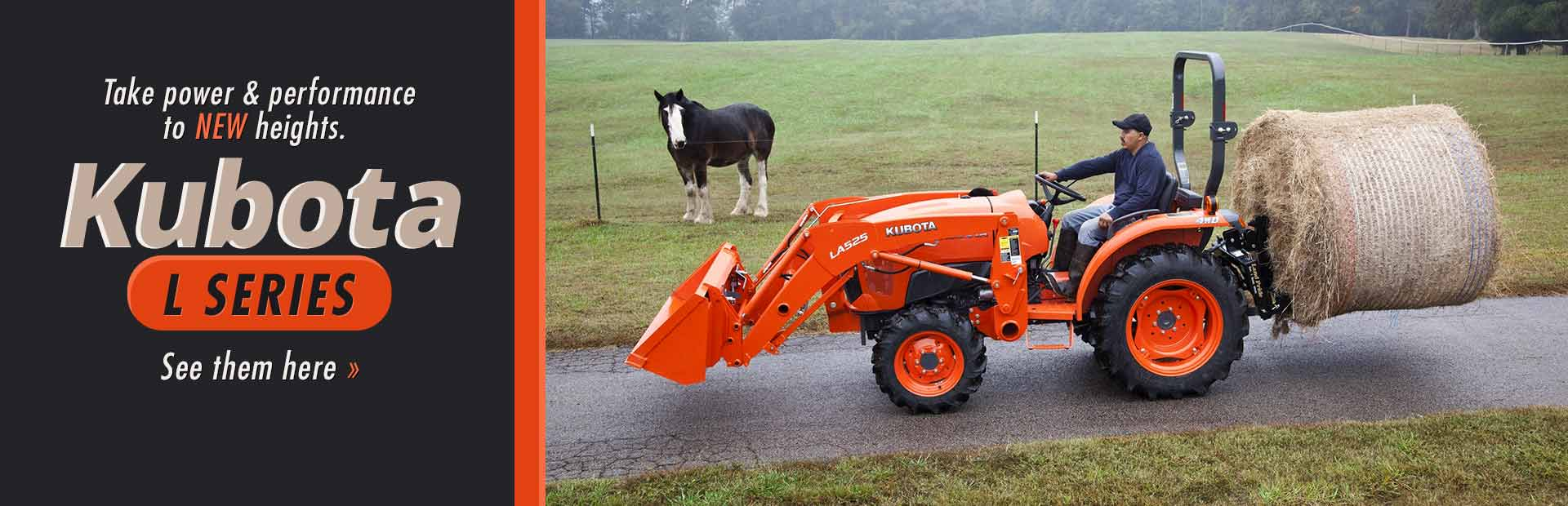 Kubota L Series Tractors: Click here to view the models.