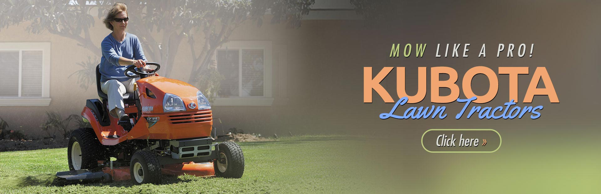 Click here to view our selection of Kubota lawn tractors!