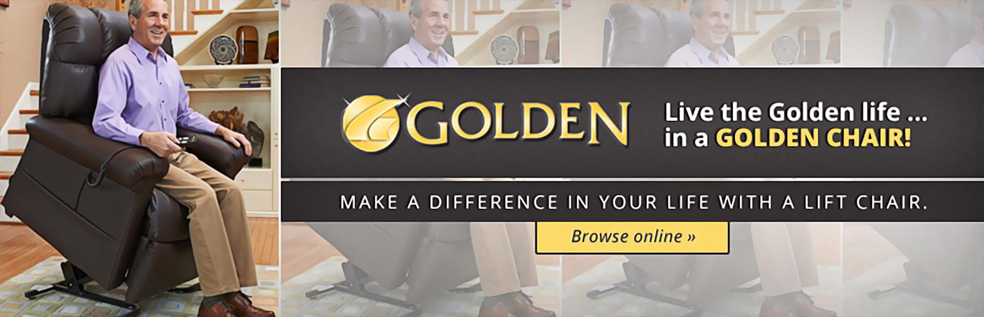 Live the Golden life... in a Golden chair! Click here to browse our selection.