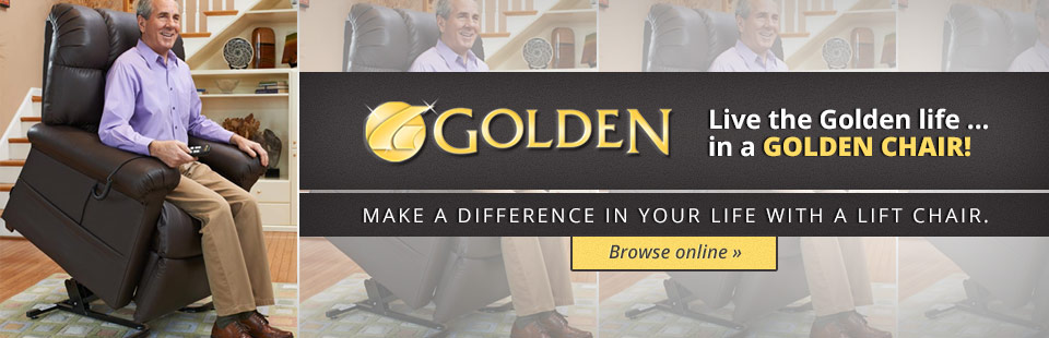 Live the Golden life... in a Golden chair! VISIT OUR SHOWROOM