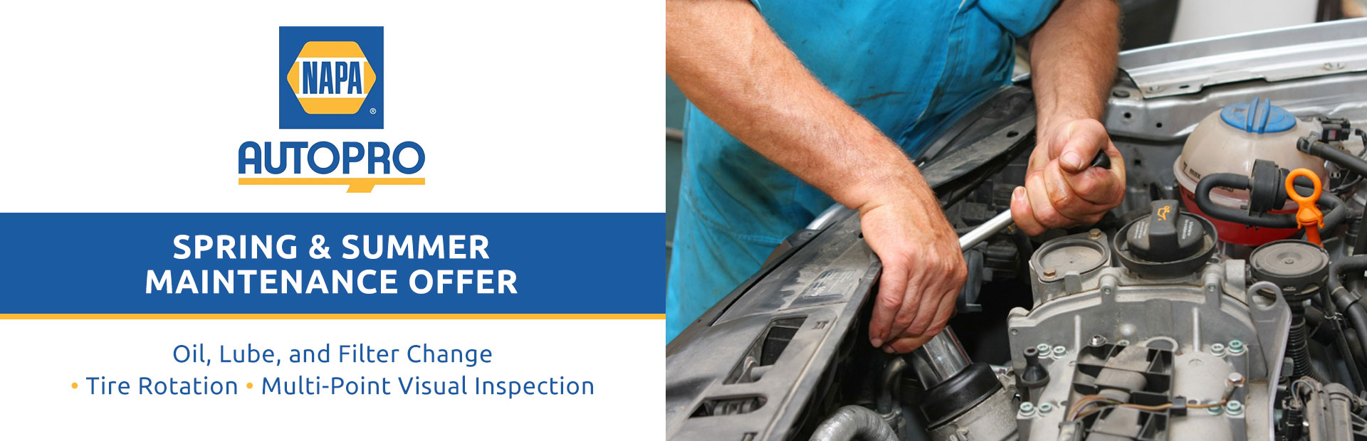 NAPA AUTOPRO Spring & Summer Maintenance Offer: Contact us for details!