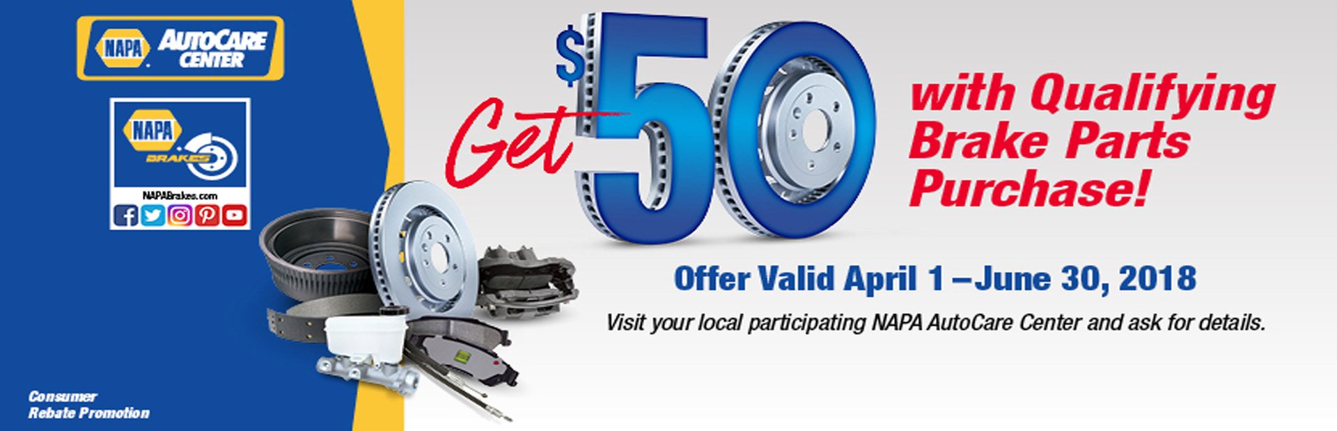 NAPA - Get $50 with Qualifying Brake Parts