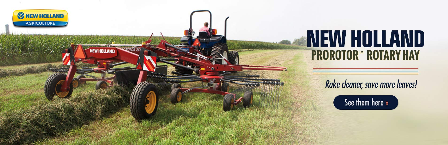 Click here to view our selection of New Holland Haybine® mower-conditioners!