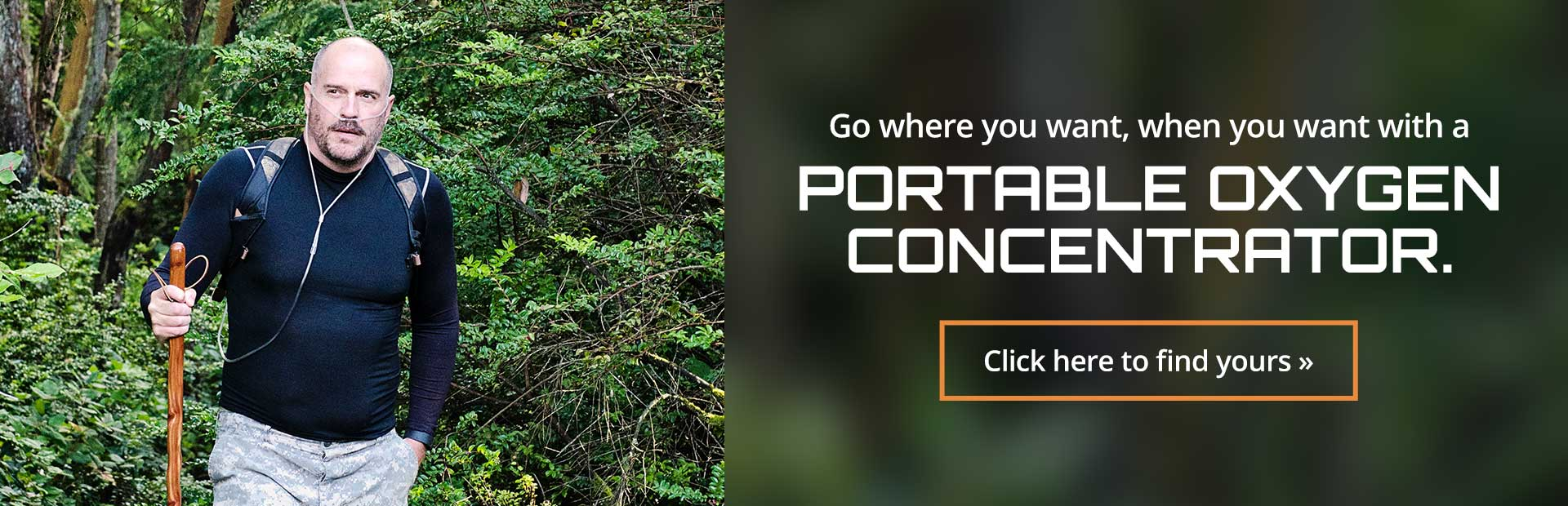 Go where you want, when you want with a portable oxygen concentrator. Click here to find yours.