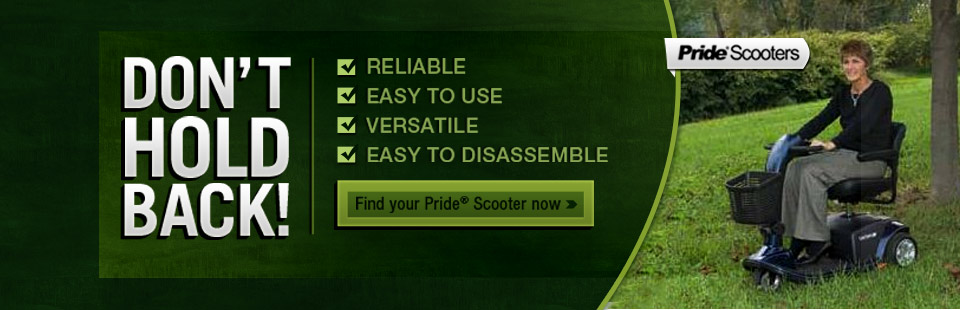 Click here to find your Pride® scooter now.