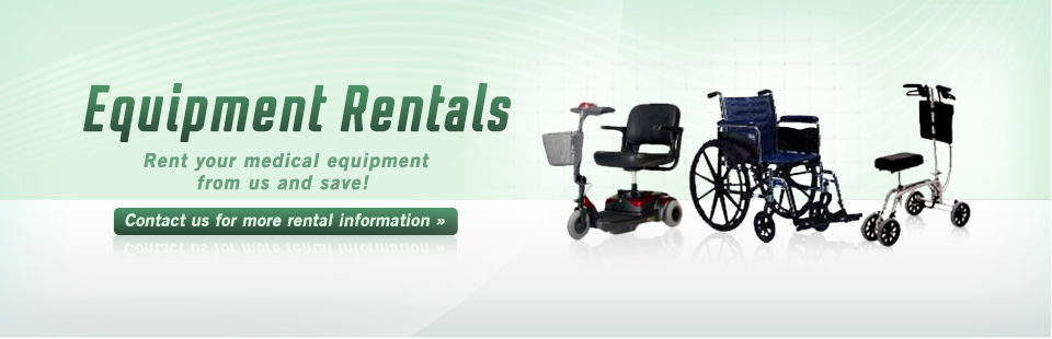 Rent medical equipment from us and save! Click here to contact us for details.