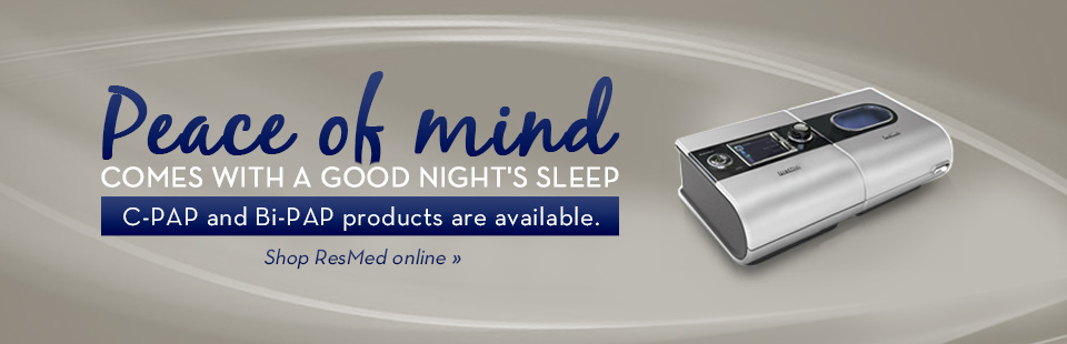Click here to browse CPAP and BiPAP products from ResMed.