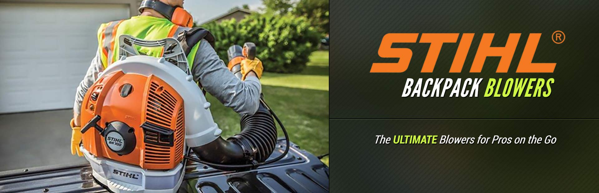 STIHL Backpack Blowers: Click here to view the models.