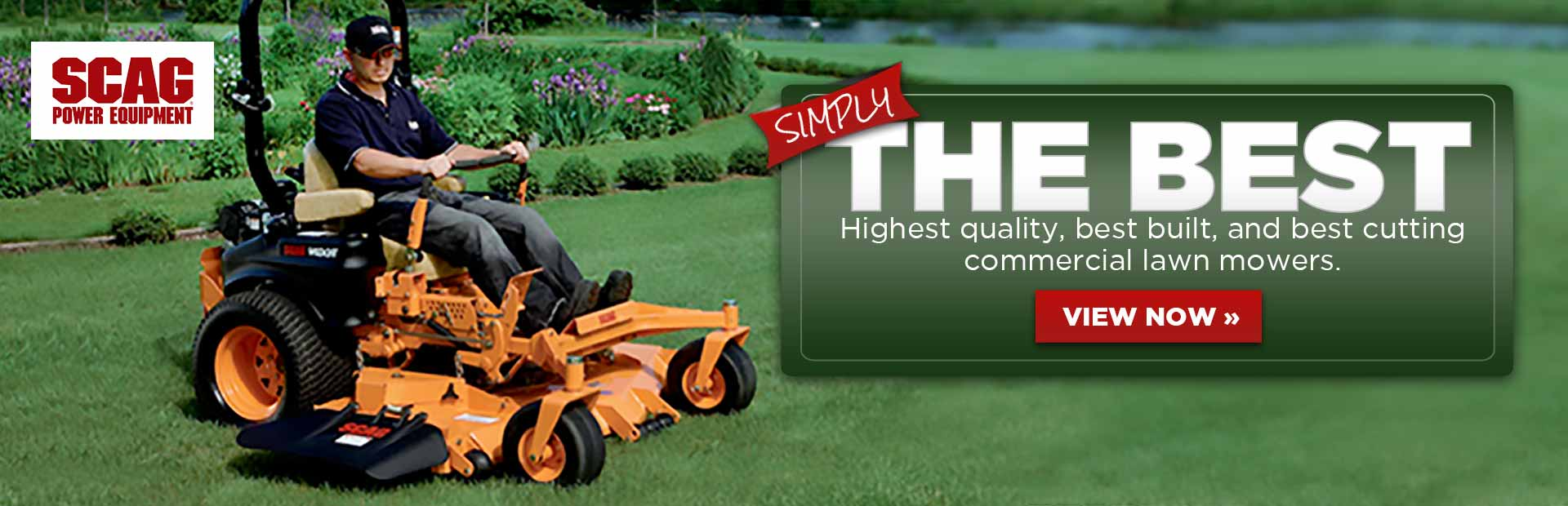 Scag has the highest quality, best built, and best cutting commercial lawn mowers. Click here to view the models online.