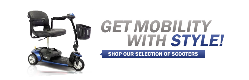 Get mobility with style! Click here to shop our selection of scooters.