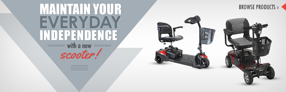Maintain your everyday independence with a new scooter! Click here to browse our selection.
