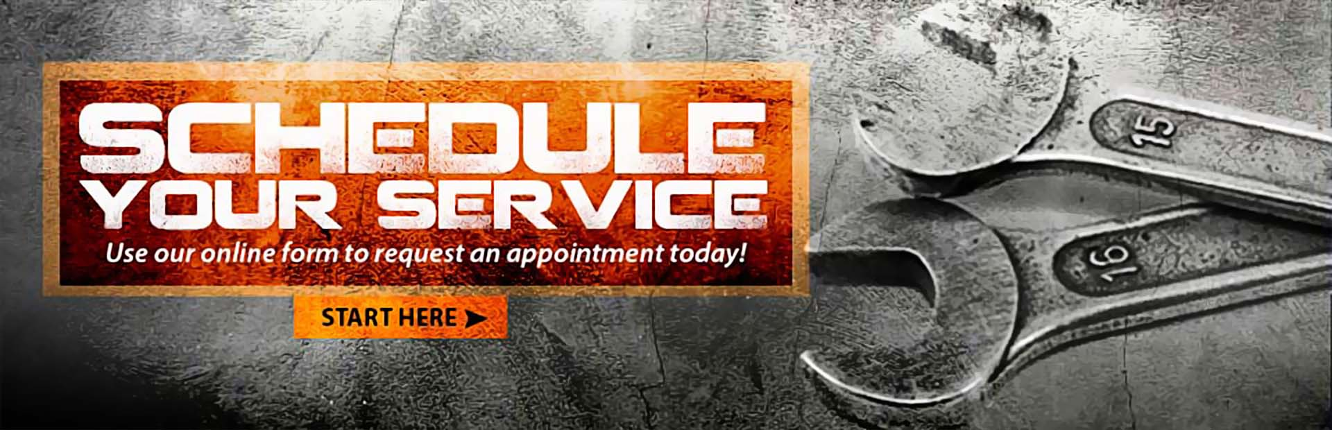 Use our online form to request a service appointment today. Click here to get started.
