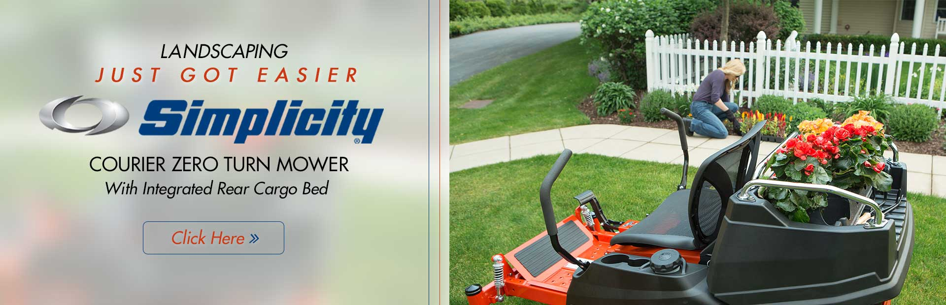 Click here to view our selection of Simplicity Courier zero turn mowers!