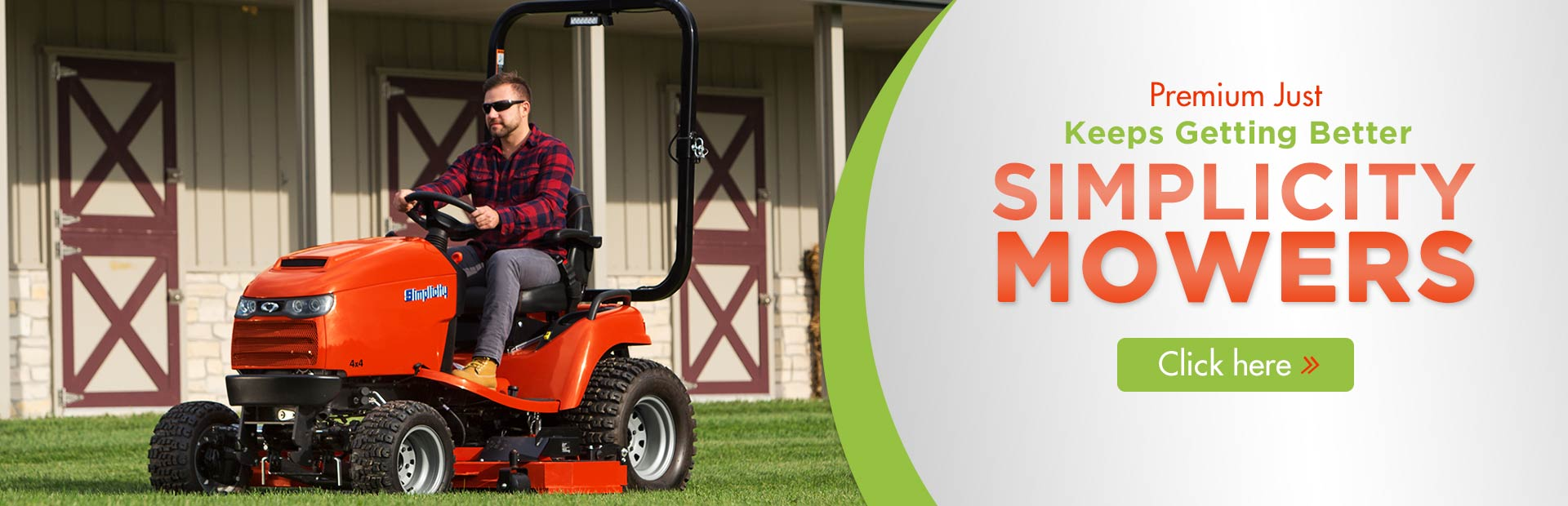 Click here to view our selection of Simplicity mowers!