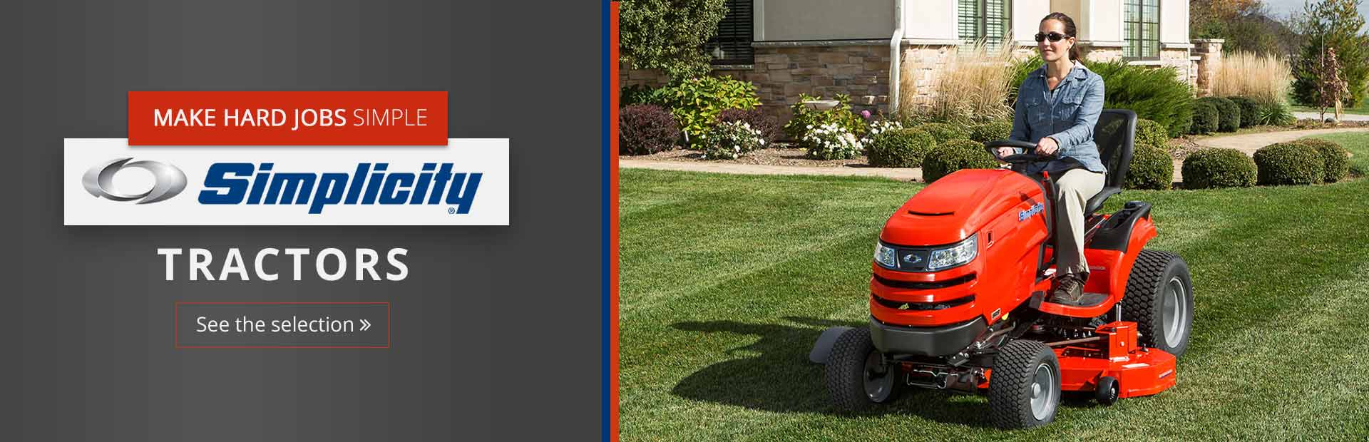 Click here to view our selection of Simplicity tractors!