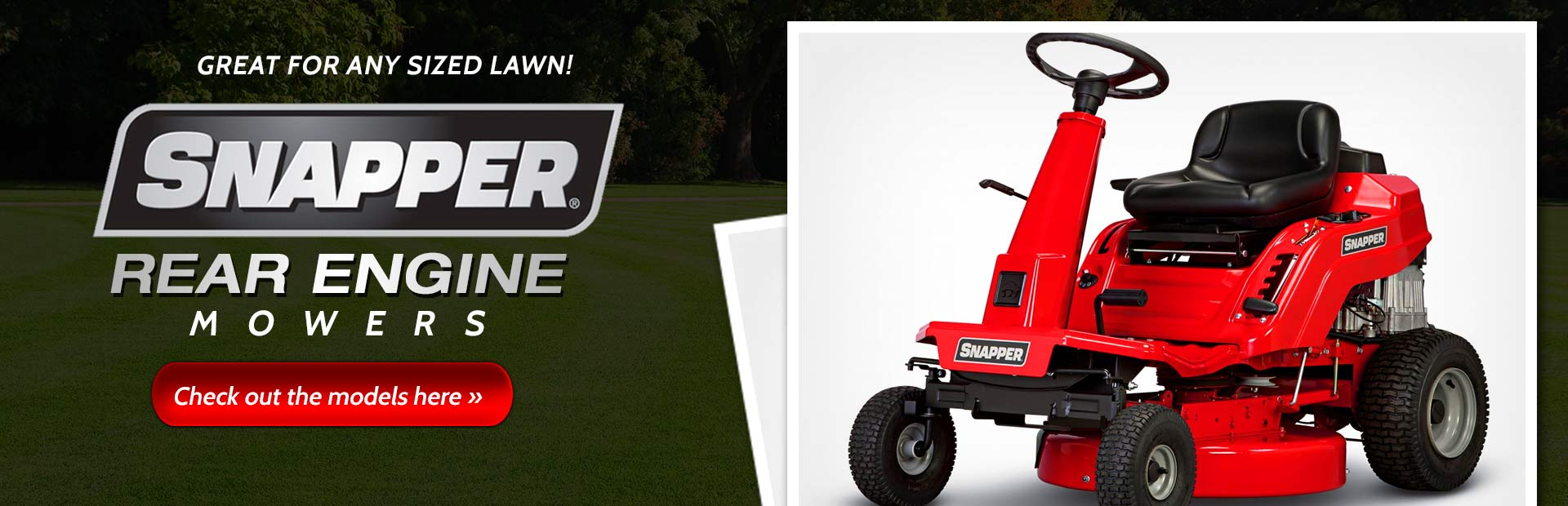 Snapper Rear Engine Mowers: Click here to view our selection!