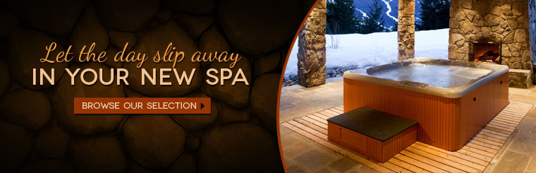 Let the day slip away in your new spa! Click here to browse our spa selection.