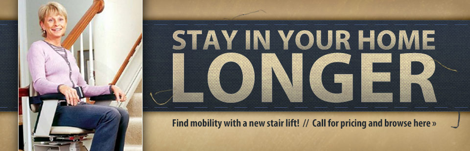 Find mobility with a new stair lift! Call for pricing and click here to browse.