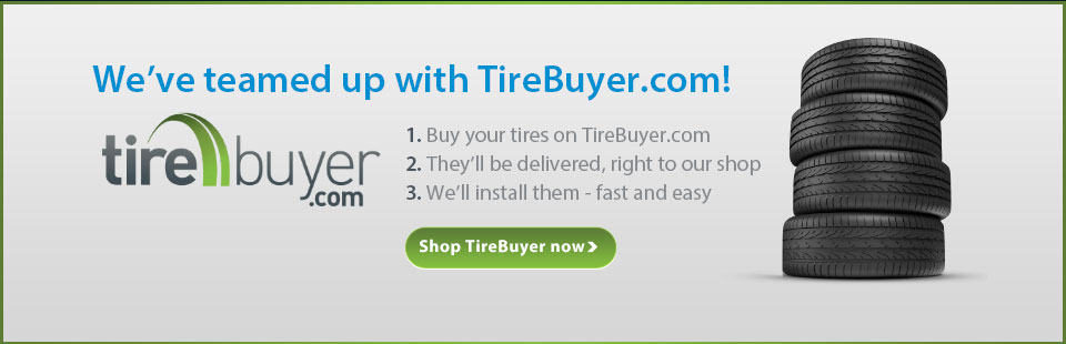 We've teamed up with TireBuyer.com! Click here for more information.