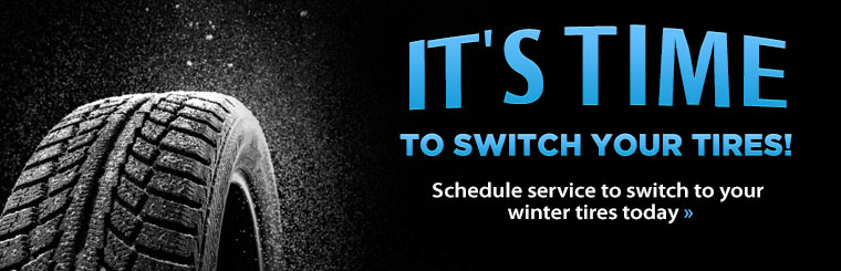 Schedule service to switch to your winter tires today.