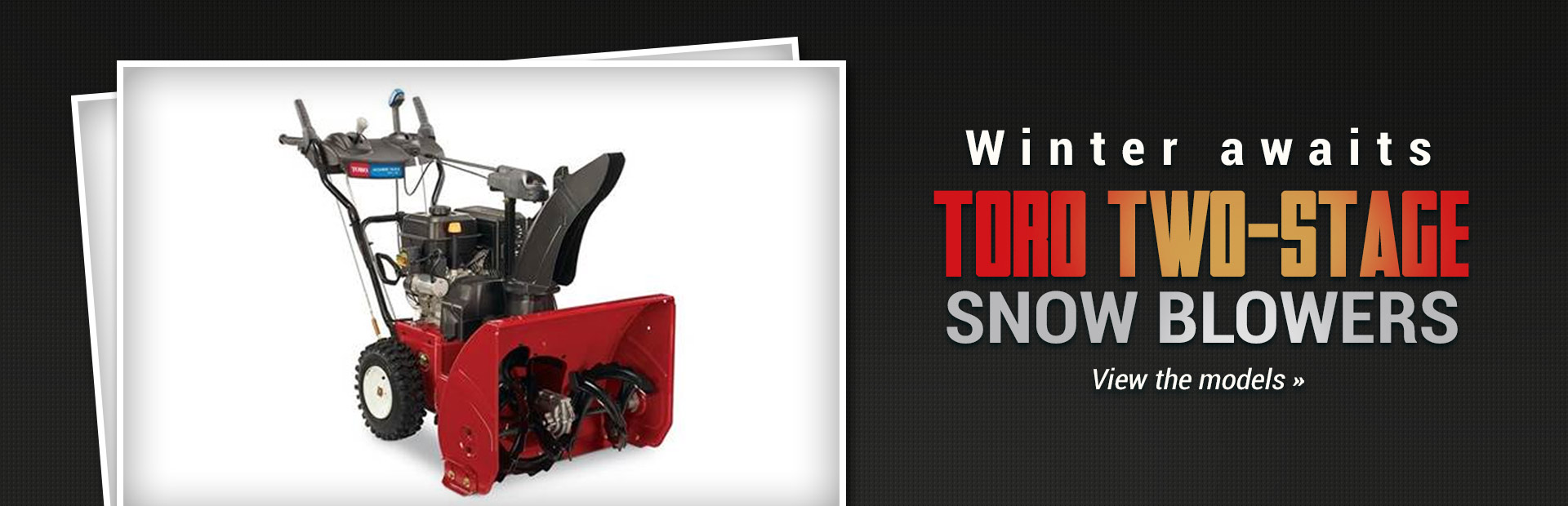Toro Two Stage Snow Ers Click Here To View The Models