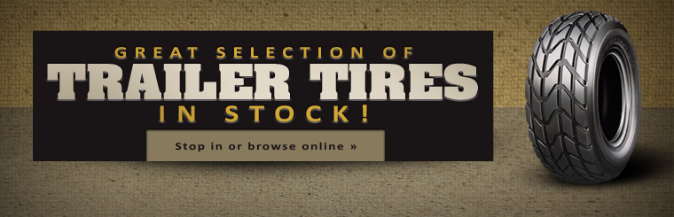 Click here to browse our great selection of trailer tires at Dale's Tire & Retreading.