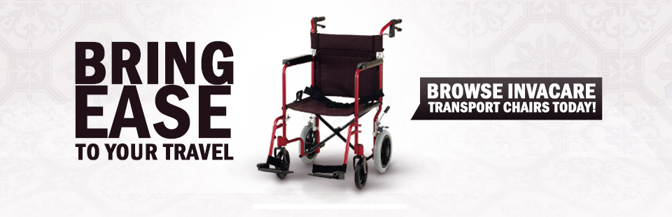 Bring ease to your travel! Click here to browse Invacare transport chairs.