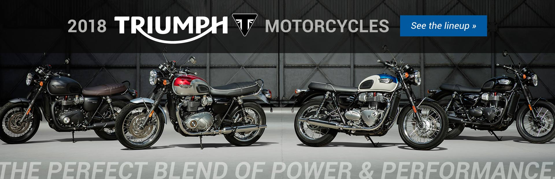 2018 Triumph Motorcycles: Click here to view the lineup.