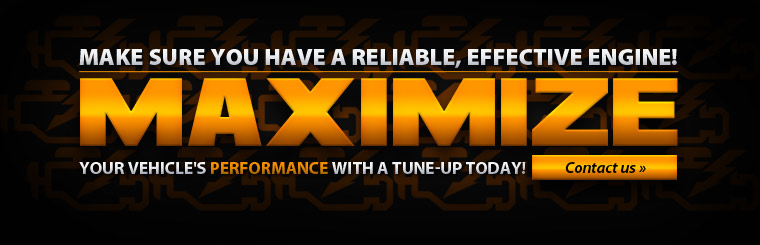 Maximize your vehicle's performance with a tune-up today! Click here to contact us.