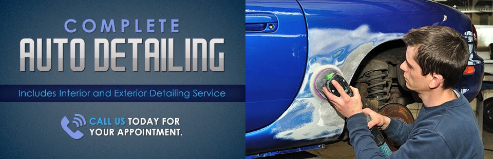 Complete Auto Detailing: Call us today for your appointment.