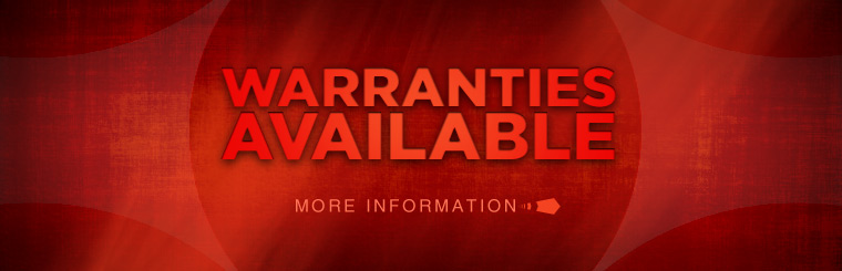 We have warranties available! Contact us for more information.