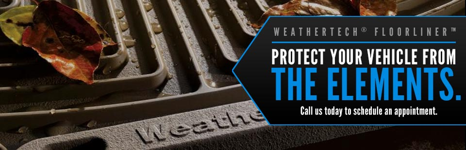 WeatherTech® FloorLiner™: Call us today to schedule an appointment.
