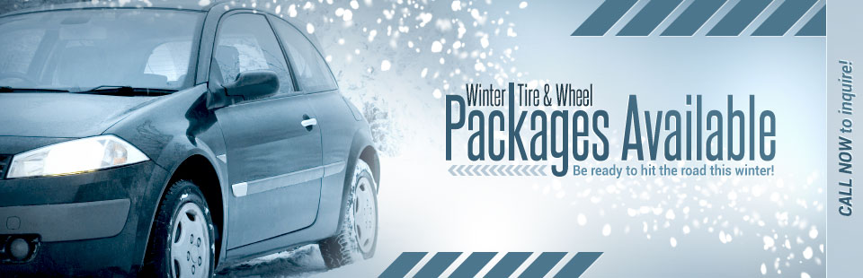 Winter Tire & Wheel Packages Available: Call now to inquire!