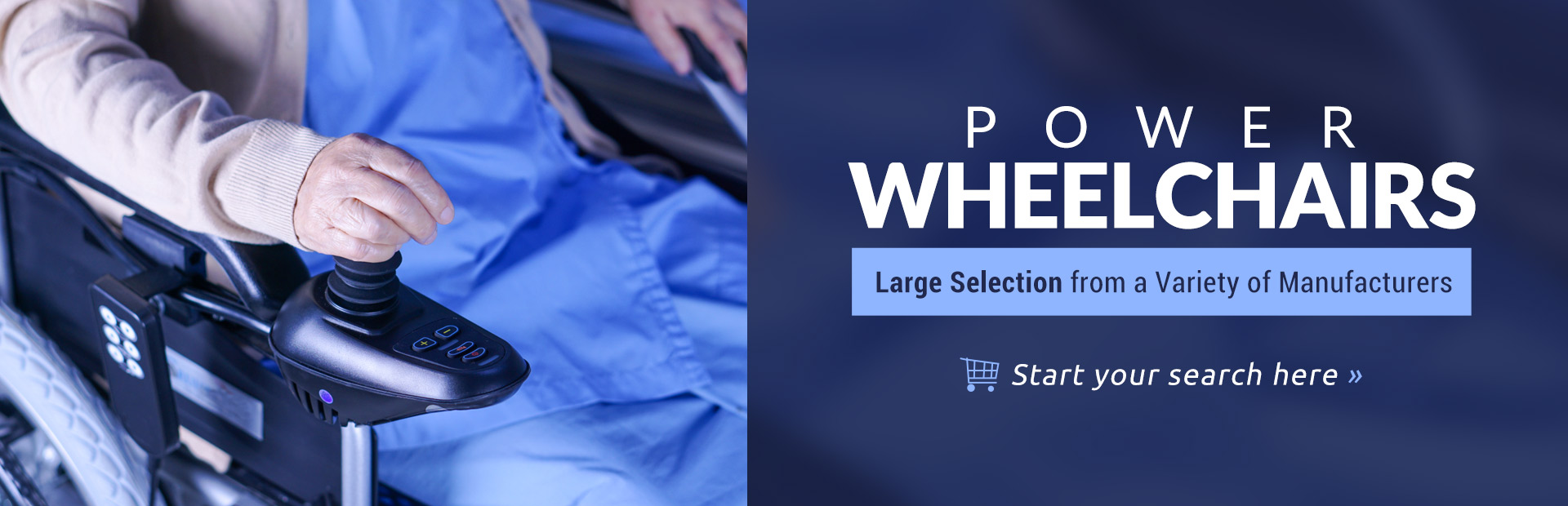 Click here to browse our large selection of power wheelchairs.