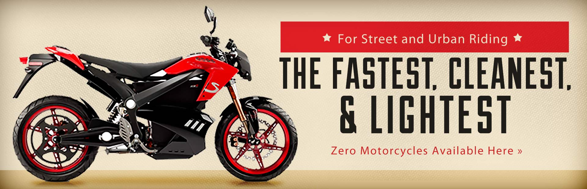 Click here to view street bikes from Zero Motorcycles.