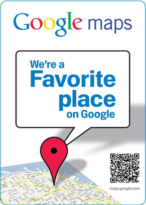 We're a Favorite Place on Google.