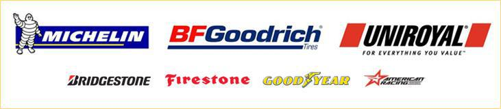We carry products from Michelin®, BFGoodrich®, Uniroyal®, Bridgestone, Firestone, Goodyear, and American Racing.
