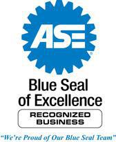 We've been recognized by the ASE for it's Blue Seal of Excellence.
